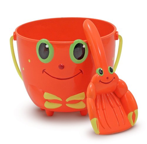 Melissa & Doug Sunny Patch Clicker Crab Sand Pail and Shovel ()