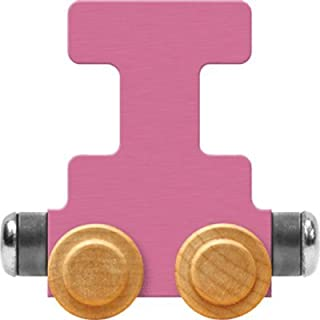 product image for Maple Landmark NameTrain Pastel Letter Car I - Made in USA (Pink)