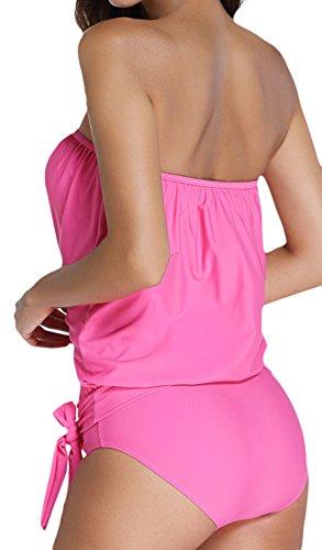 Frieda Fashion - Tankini - Opaco - para mujer Rosa