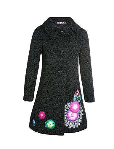 Desigual Abrig_BLEO - Abrigo para niñas, Color Negro 2000, Talla 12 años (152 cm): Amazon.es: Ropa y accesorios