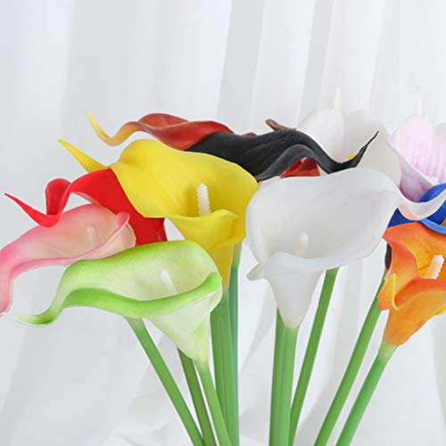 Lilies Long Stem Calla Pink (Yu2d  Mini Artificial Calla Lily Fake Flower Wedding Home Decor Bouquet(Multicolor))