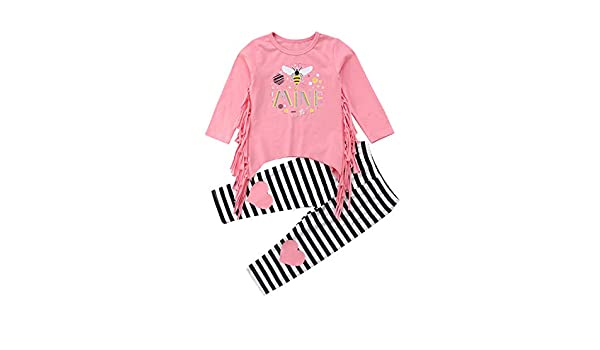 Pants 2pcs Toddler Infant Kids Baby Girls Clothes T-shirt Tops
