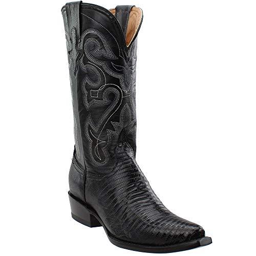 Ferrini Western Boots Womens Teju Lizard Exotic 10.5 B Black 81161-04