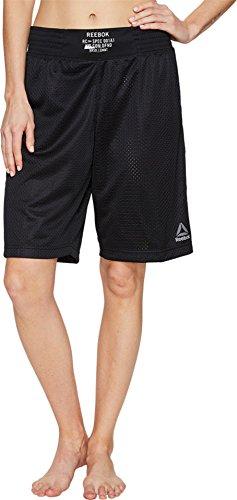 Reebok Women's Combat Prime Boxing Shorts Black (Reebok Elastic Waist Shorts)