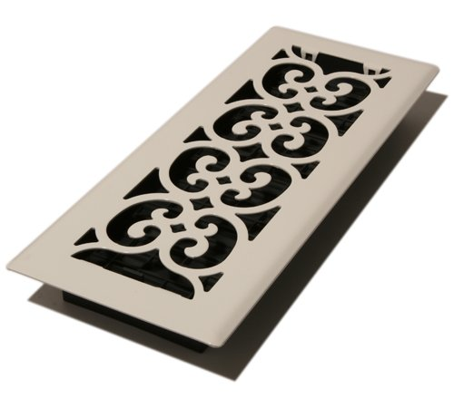 - Decor Grates FS412-WH 4-Inch by 12-Inch Scroll Metal Floor Register, White