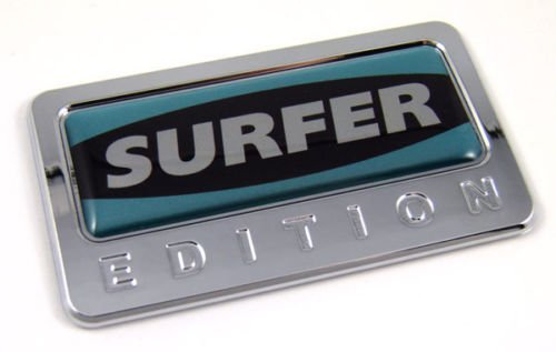 Surfer Edition Car Chrome Emblem with dome decal insert Auto Bike 3D sticker Badge surfing CBEDI-SURF