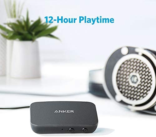 Anker Soundsync A3352 Bluetooth Receiver for Music Streaming with Bluetooth 5.0, 12-Hour Battery Life, Handsfree Calls, Dual Device Connection, for Car, Home Stereo, Headphones, Speakers