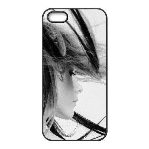 Avril Lavigne Hair Face Look Background coque iPhone 5 5S cellulaire cas coque de téléphone cas téléphone cellulaire noir couvercle EOKXLLNCD21902
