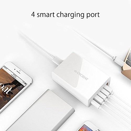 QICENT-Portable-Charger-Type-C-with-5-ISmart-Automatic-Current-Identification-Output-Port-Type-C-Adapter-Quick-Charge-Port-for-2010-macbook-pro-GALAXY-iphone-android-and-more-White