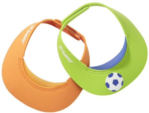 sassy-suds-n-sun-visor-green-orange-2-pack