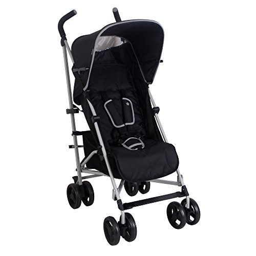 My Babiie US01 Black Baby Stroller – Lightweight Baby Stroller with Carry Handle – Silver Frame and Black – Lightweight Travel Stroller – Stylish Umbrella – Babies 6 Months – 33 lbs