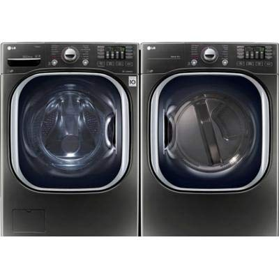 LG Turbo Series Ultra-Capacity Laundry System with ELECTRIC Dryer In Alluring Black Stainless (WM4370HKA+DLEX4370K)
