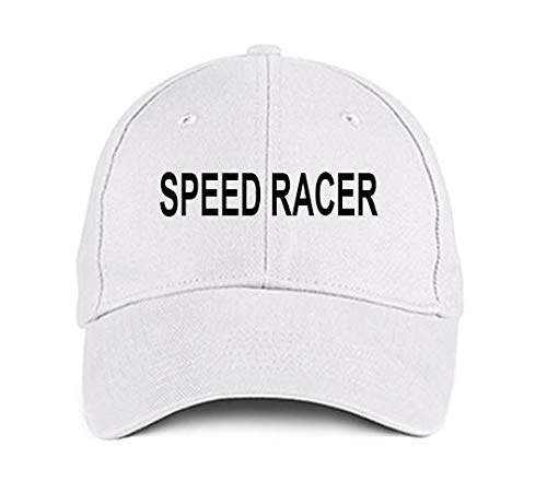 Speed Racer White Funny Embroidered Hat Adjustable Structured Baseball Caps