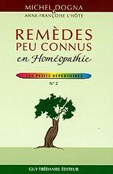Remèdes peu connus en Homéopathie