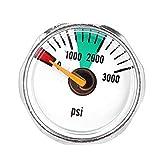 Aleación 3000 PSI Y 5000 PSI Micro Paintball Aire Co2 Calibrador De Presión del Tanque 1 / 8npt Roscas Una Pieza All Brass 3000psi Mini Micro Gauge-Astilla