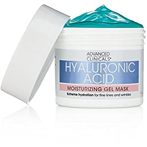 Advanced Clinicals Hyaluronic Acid Moisturizing Gel Mask with soothing chamomile. Extreme hydration for fine lines and wrinkles.