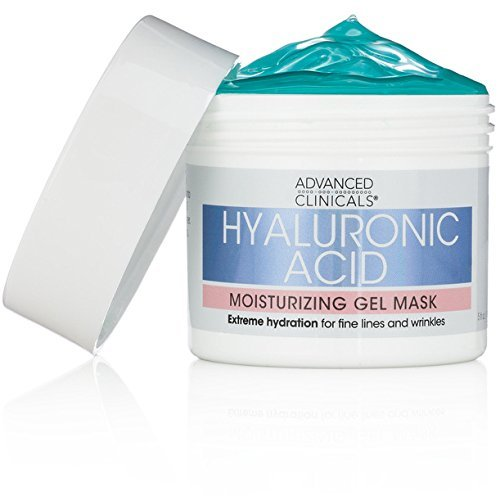 Advanced Clinicals Hyaluronic Acid Moisturizing Gel Mask with soothing chamomile. Extreme hydration for fine lines and wrinkles. Supersize 5 oz ()