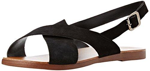 New Look WoMen Wide Foot Freeda Ankle Strap Sandals Black (Black)