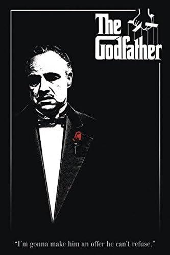 """Póster """"The Godfather"""" El Padrino - Don Vito Corleone (61cm x 91,5cm) + 2  marcos negros para póster con suspención: Amazon.es: Juguetes y juegos"""