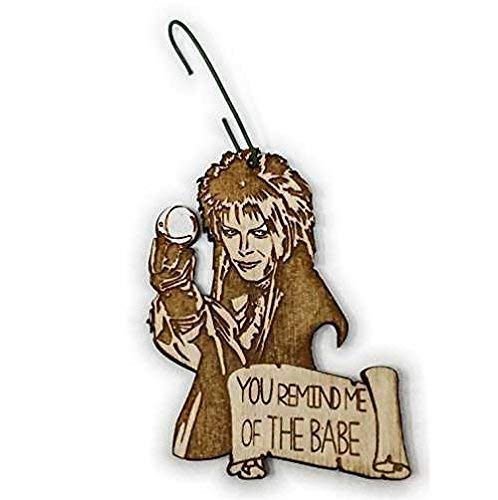 Jareth the Goblin King Christmas Ornament | Film Rear View Mirror Hanging | Labyrinth Decoration Gift