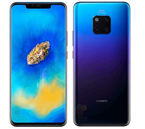 Huawei Mate 20 Pro LYA-L29 256GB/8GB Dual Sim (Twilight) - Factory Unlocked - GSM ONLY, NO CDMA - No Warranty in The USA