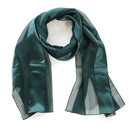 Long Satin Scarf - Scarfs for women | lightweight soft silky scarves | 60