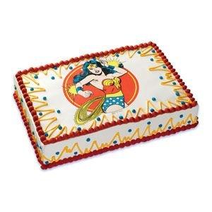 Wonder Woman Cumpleaños ~ Comestible imagen Pastel/Cupcake ...
