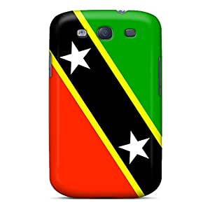 Tpu Fashionable Design Saint Kitts And Nevis Flag Rugged Case Cover For Galaxy S3 New