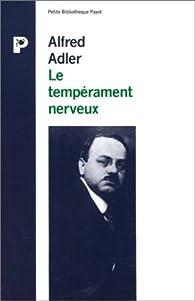 Le tempérament nerveux par Adler