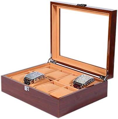 SBSNH ストレージボックス-木製レトロ8ビットウォッチボックスウォッチストレージコンソリデーションボックスウォッチコレクショ