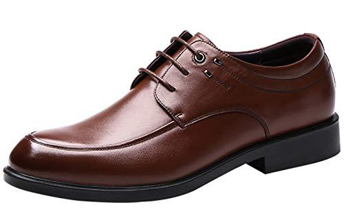 Herren Lace Up Derby Schuhe Mode Leder Schuhe Kleid Schuhe Classic Black Brown Brown