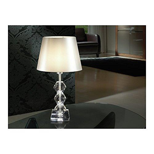 Schuller Spain 541528I4L Modern, Art Deco Chrome Table Lamp 1 Light Living Room, bed room, Study, Bedroom LED, Glass Table Light   ideas4lighting by Schuller
