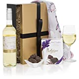 Ladies Choice White Wine Gift Set Hampers For Her - The Perfect Luxury Wine And Truffles Hamper