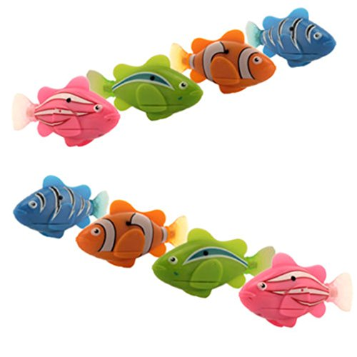 Zinnor Swimming Robot Fish Activated in Water Electronic Mini Robotic for Kids