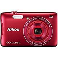 Nikon COOLPIX S3700 Digital Camera with 8x Optical Zoom and Built-In Wi-Fi (Red) Noticeable Review Image