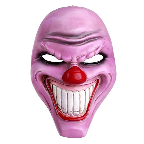 Mater Costume For Adults - Crazy Genie Classic Collection Masquerade Costume Party Cosplay Resin Mask (Purple Clown)