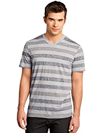 District Men's Reverse Striped V-Neck T-Shirt