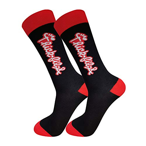 THICK-FIL-A Parody Funny Socks (5 Styles, 1-3 packs) | Cute Socks for Girlfriend or Boyfriend, Unisex | Novelty Socks for Women & Men