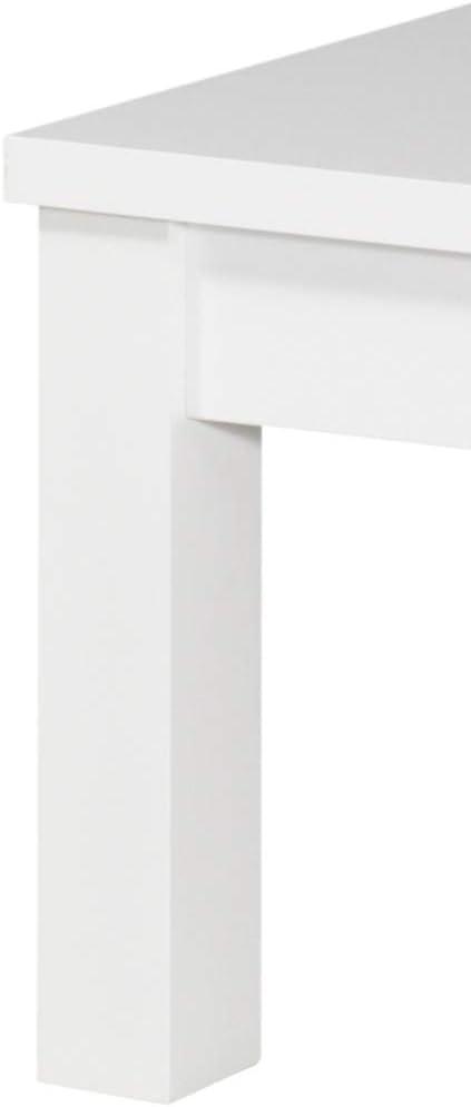 Movian Table basse Atran Vernis blanc brillant Couleur