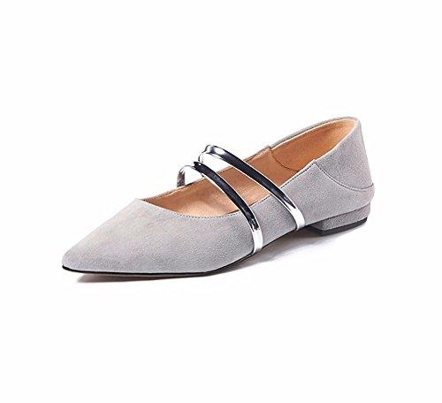 YUCH La Mujer Zapato Solo Superficialmente Señaló Topen Slacker Zapatos lgray