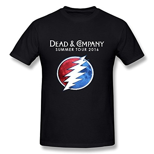Dead And Company Summer Tour 2016 Graphic Men's Summer T-shirt Black