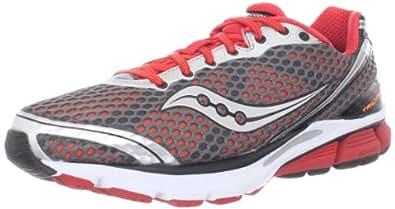 Saucony Men's Triumph 10 Running Shoe,Grey/Red/Vizipro,8.5 M US