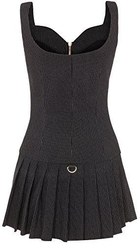 Jawbreaker - Vestido - Rayas - para mujer negro