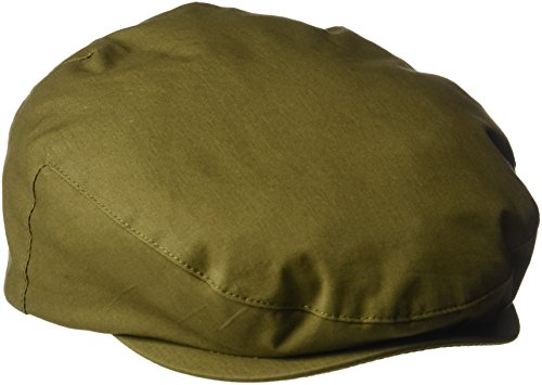 Henschel Men's Cotton Ivy Hat with Leather Accent, Olive, ()
