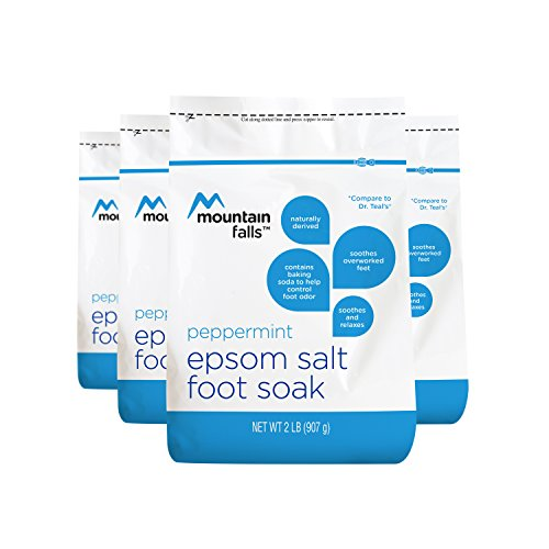 (Mountain Falls Epsom Salt Foot Soak with Baking Soda to Help Control Foot Odor, Peppermint, 2 Pound (Pack of 4))