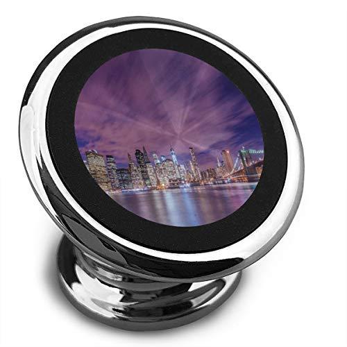 Baerg Universal Magnetic Phone Car Mounts Magnet Holder Night New York City Skyline Magnetic Mount for Phone 360° Rotation -