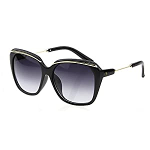 LIANSAN Women Oversized Designer Sunglasses - PC Frame Fashion UV Protection Black LSP507