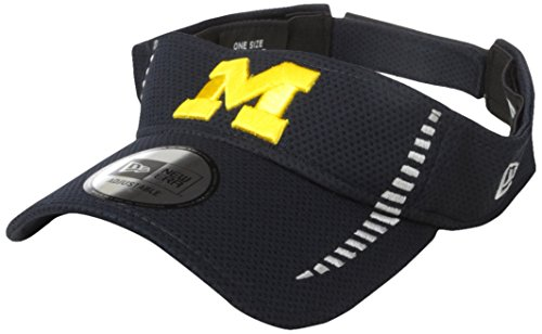 NCAA Michigan Wolverines Adult NE Speed Visor, One Size, Navy (Michigan Wolverines Team Visor)