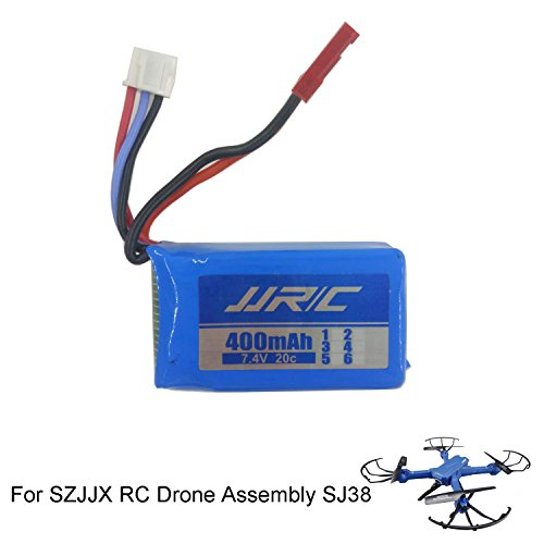 SZJJX Rechargeable Battery 7.4V 400mAh for SZJJX RC Drone Assembly Remote Control FPV VR Wifi Quadcopter 2.4GHz 6-Axis Gyro 4CH Helicopter SJ38