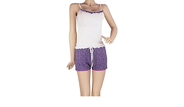 Hipnys Sleepwear SHT02 Shorts & Cami PJ Set Pajama Nightwear Pijamas de Mujer at Amazon Womens Clothing store: